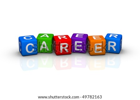 career (buzzword colorful cubes series)