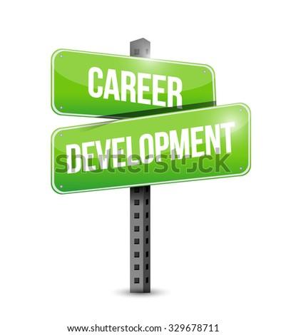 career development street sign concept illustration design graphic - stock photo