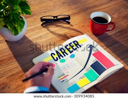Career Employment Data Analysis Recruitment Concept - stock photo