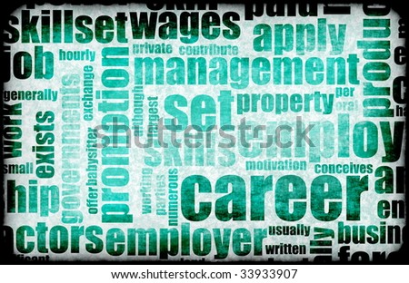 Career Employment of Job in Recruitment Industry - stock photo