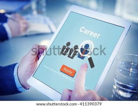 Career Job Profession Apply Hiring Concept - stock photo