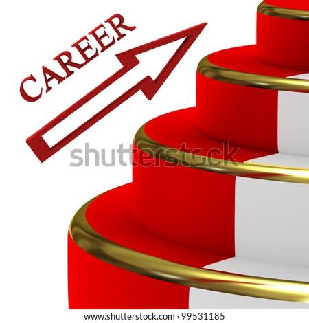 Career ladder - stock photo