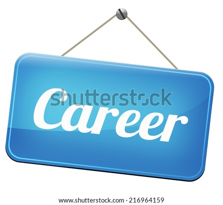 career move and ambition for personal development a nice job promotion or the search for a new job build a career or job   - stock photo