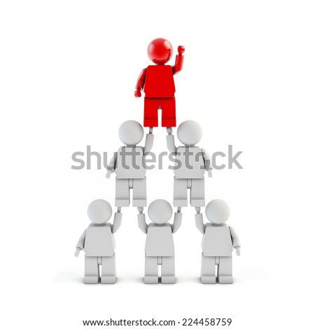 Career Opportunity - pyramid from 3d people - stock photo