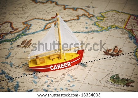 Career Path - stock photo