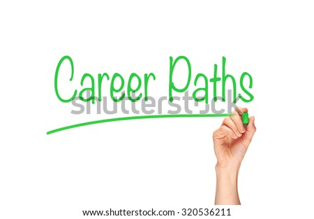 Career Paths, Induction Training headlines concept.
