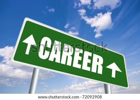 Career sign - stock photo