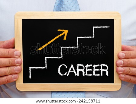 Career - step by step to the top - stock photo
