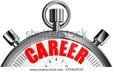 career stop watch - stock photo