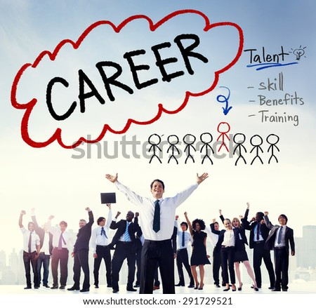 Career Talent Skill Talent Benefits Occupation Concept - stock photo