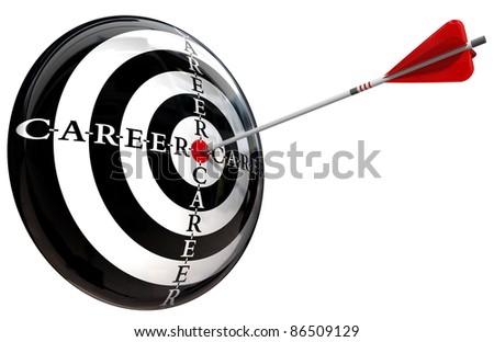 career target conceptual image isolated on white background