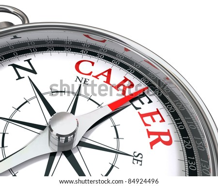 career the way indicated by compass conceptual image - stock photo