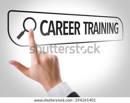 Career Training written in search bar on virtual screen - stock photo