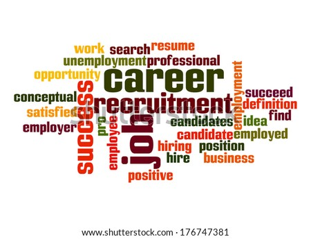 Career Word Cloud - stock photo