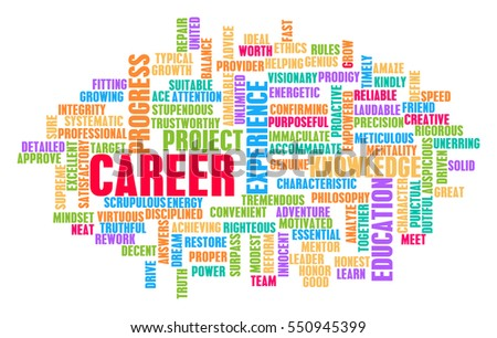 Career Word Cloud Concept on White