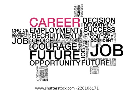 Career wordcloud - stock photo