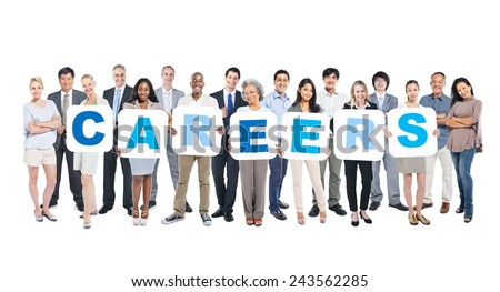 Careers Business People Team Teamwork Success Strategy Concept - stock photo