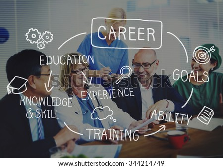 Careers Employment Job Recruitment Occupation Concept - stock photo