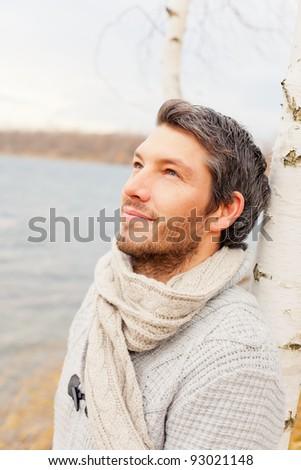 carefree man - stock photo