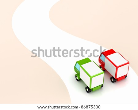 Cargo concept.3D rendered. Isolated on white. - stock photo