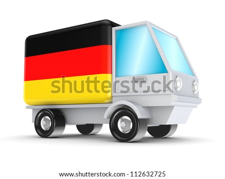 Cargo concept.Isolated on white background.3d rendered. - stock photo