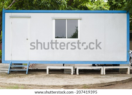 Cargo container house - stock photo