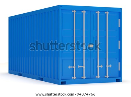 Cargo Container isolated on white background