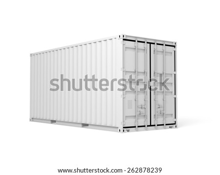 Cargo container isolated on white background , Digital 3d illustration - stock photo