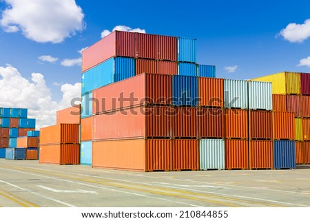 Cargo containers  - stock photo