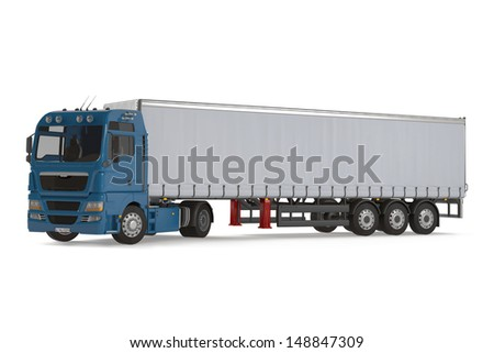Cargo delivery vehicle truck - stock photo