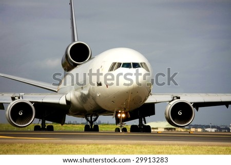 Cargo jet on the runway