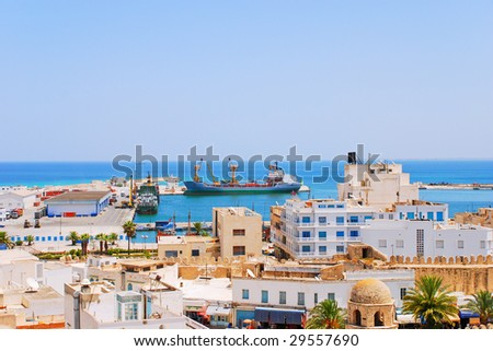 Cargo Seaport of Sousse, Tunisia - stock photo
