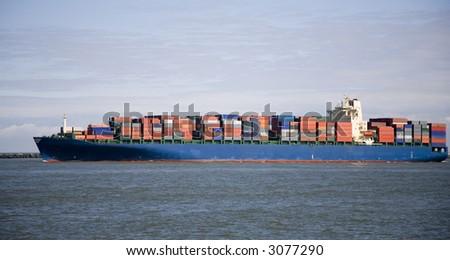 Cargo ship 4 - stock photo