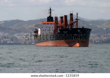 cargo ship in the sea #5