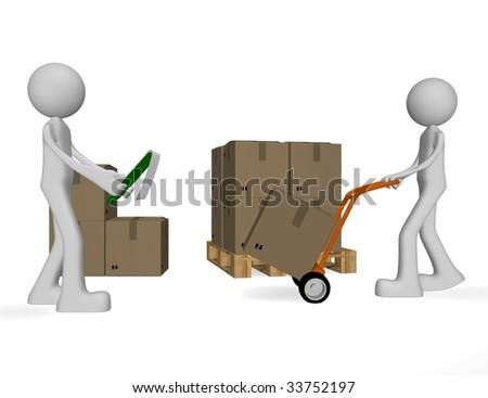 cargo shipments - stock photo