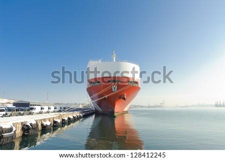 cargo ships - stock photo