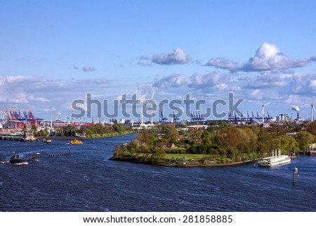 Cargo terminals in sea port Rotterdam, Netherlands. - stock photo