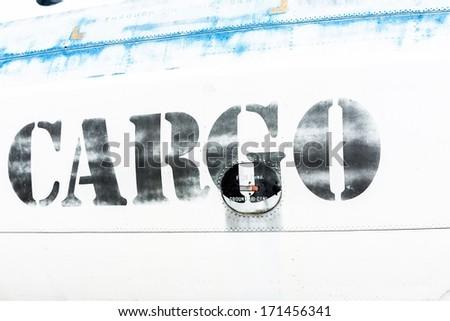 Cargo text closeup - stock photo