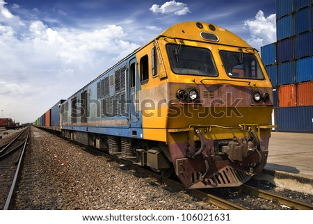 Cargo train - stock photo