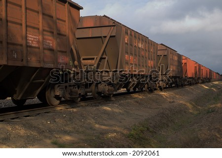 cargo train - stock photo