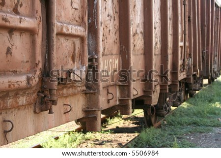 Cargo train shot - stock photo