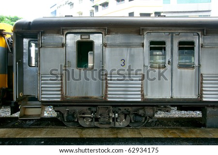 Cargo train wagon - stock photo