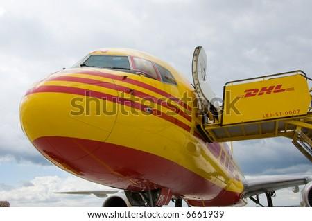 cargo transport aircraft - stock photo