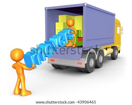 Cargo Truck - stock photo