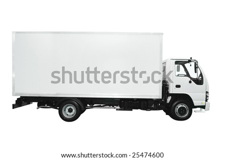 Cargo truck isolated on white background