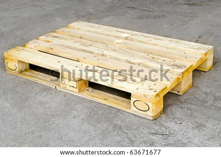 Cargo Wooden Euro Pallet Standard Dimensions Stock Photo ...