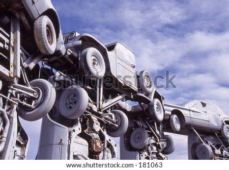Carhenge. - stock photo