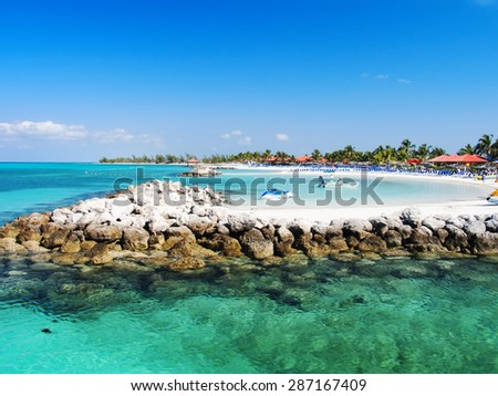 Caribbean beach. - stock photo