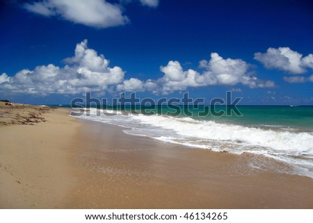 Caribbean beach with white sand