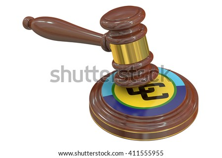 Caribbean Community CARICOM concept, 3D rendering - stock photo